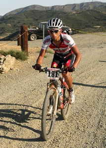 Manny was the first one to reach the top of the first climb. Thanks to Joe at www.mtnbikeriders.com for the pic